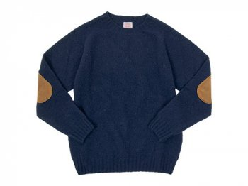 BRICK CREW NECK KNIT パッチ付き NEW NAVY