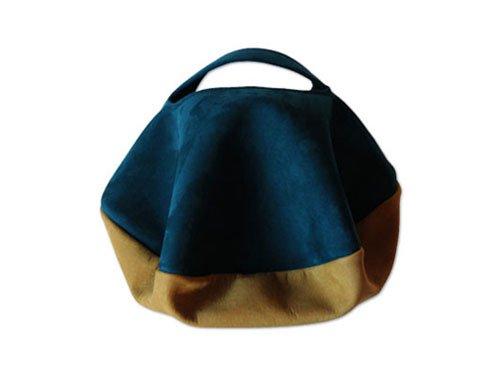 カンダミサコ circle bag mini 12:DARK BLUE x MUSTARD