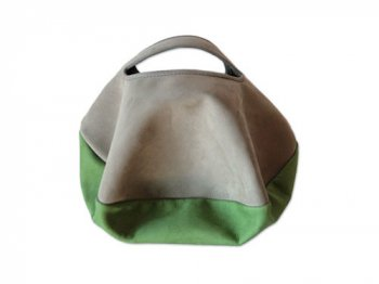 カンダミサコ circle bag mini 14:LIGHT GRAY x LIGHT GREEN