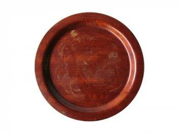 丸い木製トレイ