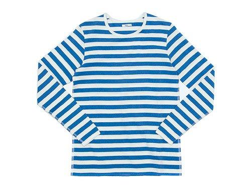maillot ボーダー長袖Tシャツ SAX
