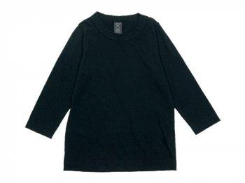 homspun 天竺七分袖Tシャツ ブラック 【6450】