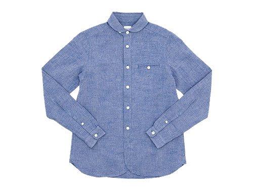 maillot sunset round work shirts BLUE