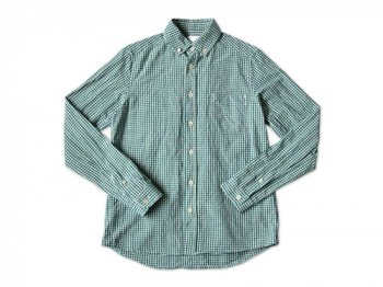maillot sunset gingham B.D. shirts GREEN x BLUE
