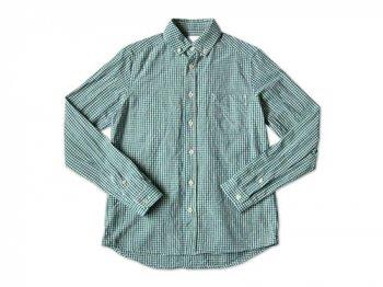 maillot sunset gingham B.D. shirts GREEN x BLUE