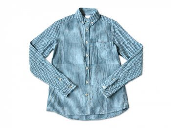 maillot sunset gingham B.D. shirts SAX x BLUE