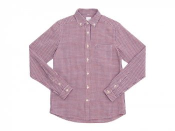maillot sunset gingham B.D. shirts ORANGE x BLUE