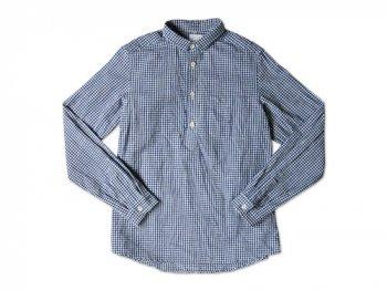 maillot sunset gingham P/O shirts BLUE x WHITE