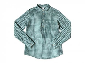 maillot sunset gingham P/O shirts GREEN x BLUE