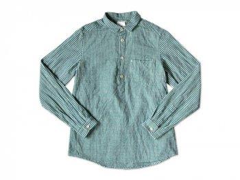 maillot sunset gingham P/O shirts GREEN x BLUE