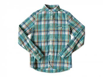 maillot madras round work shirts GREEN