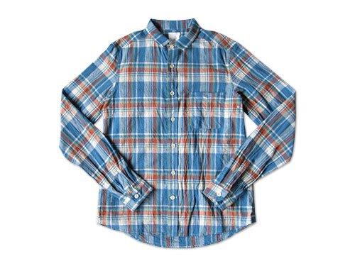 【再入荷】maillot madras small collar shirts