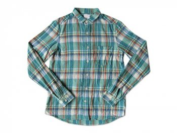 maillot madras small collar shirts GREEN
