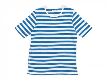 maillot ボーダー半袖Tシャツ SAX