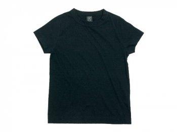 homspun 天竺半袖Tシャツ ブラック 【6271】