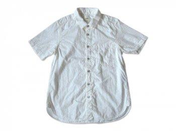 RINEN 80/1ローン接結 レギュラーカラー半袖シャツ 01WHITE 〔メンズ〕