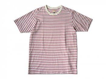 TATAMIZE CREW NECK T-SHIRT WHITE x RED
