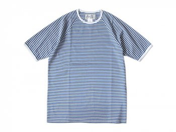 Charpentier de Vaisseau NARROW STRIPES SHORT SLEEVES BLUE x WHITE