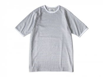Charpentier de Vaisseau NARROW STRIPES SHORT SLEEVES GRAY x WHITE