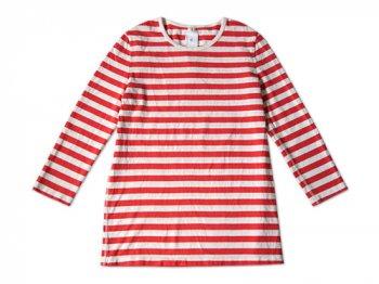 maillot ボーダー7分袖Tシャツ ORANGE