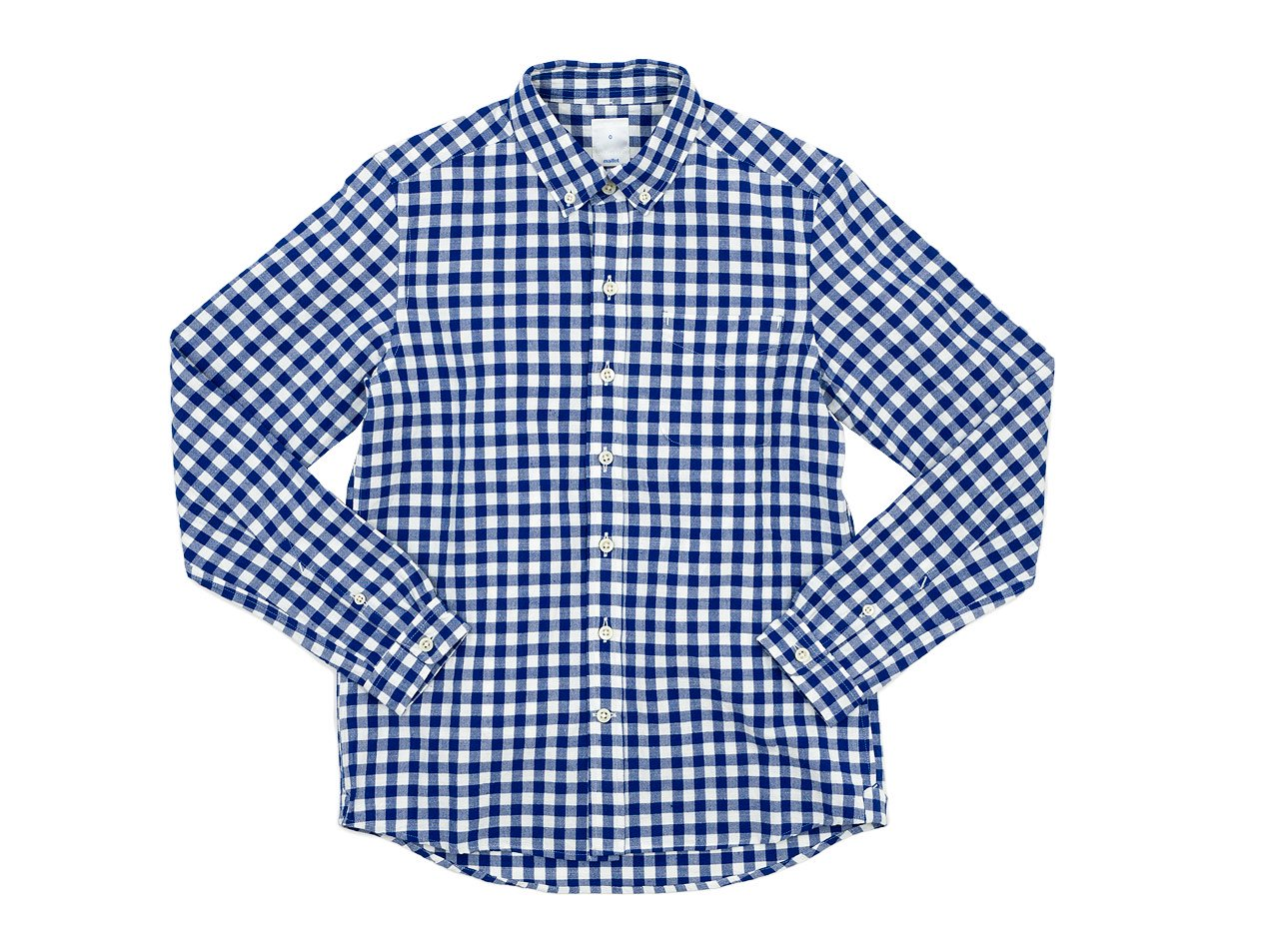 maillot sunset big gingham B.D. shirts BIG BLUE x WHITE