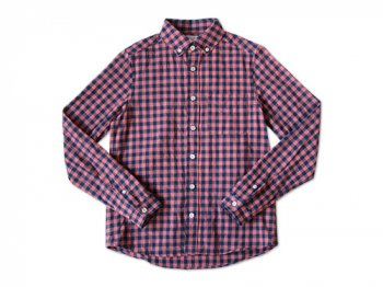 maillot sunset big gingham B.D. shirts BIG RED x NAVY