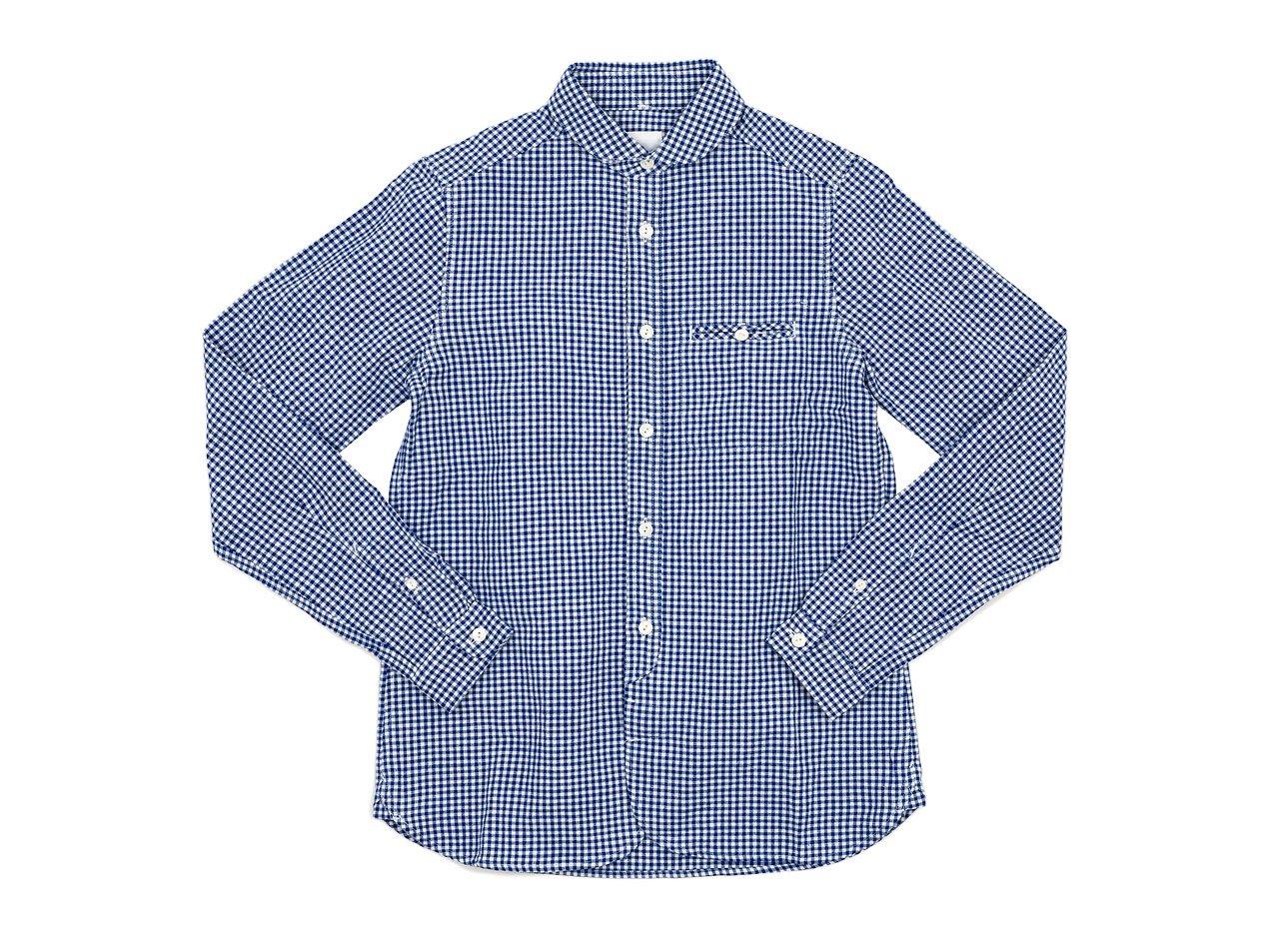 maillot sunset gingham round work shirts BLUE x WHITE