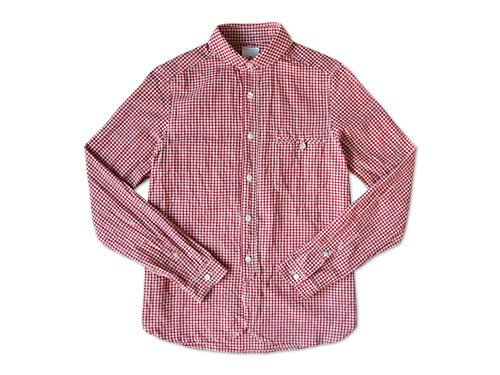 maillot sunset gingham round work shirts RED x WHITE