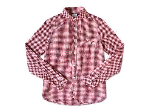 maillot sunset gingham round work shirts RED x WHITE