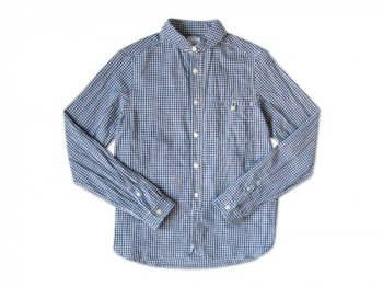 maillot sunset gingham round work shirts BLUE x PURPLE