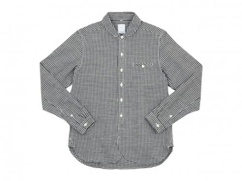 maillot sunset gingham round work shirts BLACK x WHITE