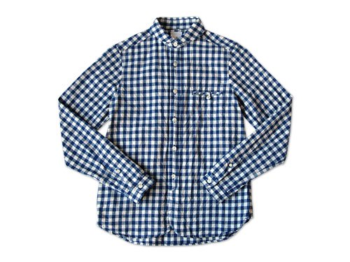 maillot sunset big gingham round work shirts BIG BLUE x WHITE