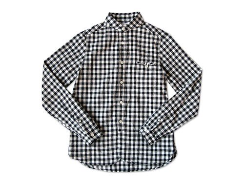 maillot sunset big gingham round work shirts BIG BLACK x WHITE