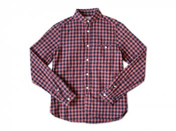 maillot sunset big gingham round work shirts BIG RED x NAVY