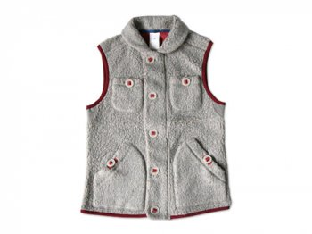 maillot angola pile fleece vest TOP GRAY