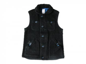maillot angola pile fleece vest BLACK