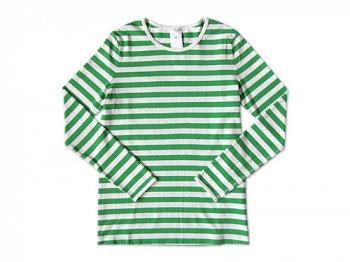 maillot ボーダー長袖Tシャツ GREEN