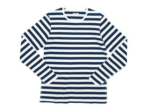 maillot ボーダー長袖Tシャツ NAVY