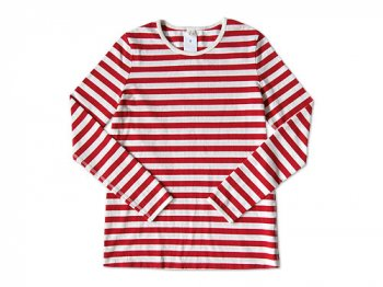 maillot ボーダー長袖Tシャツ RED