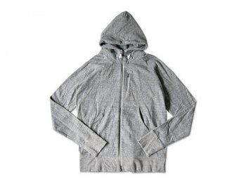 maillot back color zip parka TOP GRAY