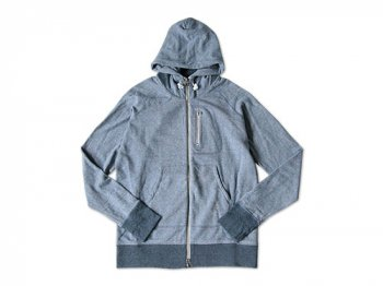 maillot back color zip parka STONE BLUE