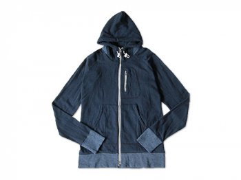 maillot back color zip parka NAVY