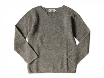 NOR' EASTERLY WIDE NECK SWEATER OYSTER