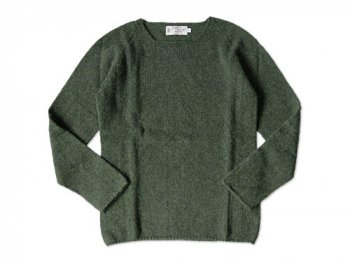 NOR' EASTERLY WIDE NECK SWEATER LODEN