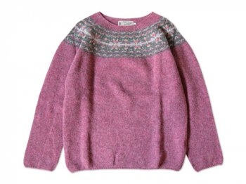 NOR' EASTERLY WIDE NECK NORDIC SWEATER COTTAGE