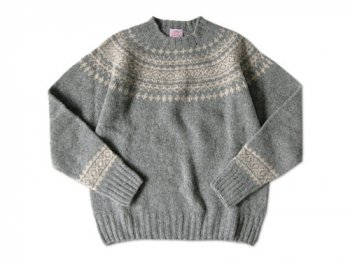 BRICK FAIRISLE YOKE KNIT FLANNEL