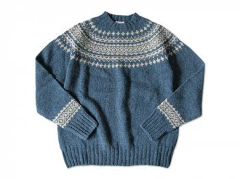 BRICK FAIRISLE YOKE KNIT DENIM