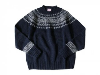 BRICK FAIRISLE YOKE KNIT PRUSSIAN