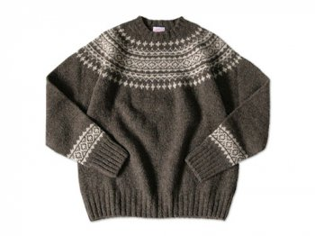 BRICK FAIRISLE YOKE KNIT DONKEY