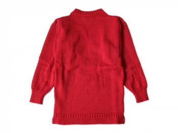 LE TRICOT DE LA MER SOLID GUERNSEY SWEATER TARTAN RED